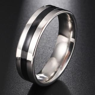 黒線 ステンレス ブラックライン リング シンプルリング 銀色 13号(リング(指輪))