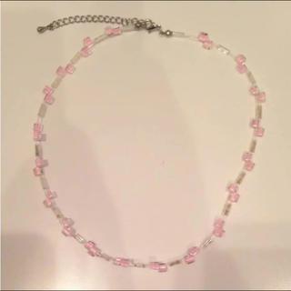 ピンク ビーズ ネックレス(ネックレス)