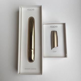 アイコス(IQOS)のアイコス3 ドアカバー&キャップ ブリリアントゴールド IQOS 正規品 送料込(タバコグッズ)
