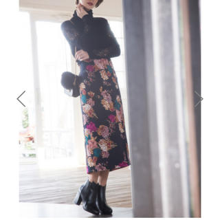GRL - 花柄 ハイウエスト タイトスカート