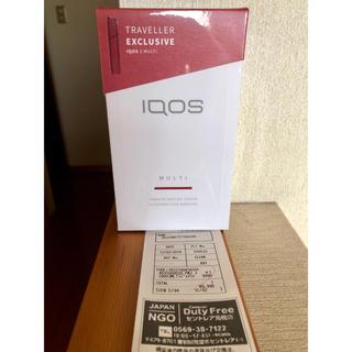 アイコス(IQOS)のアイコス3マルチ 5台 ラディアント レッド 赤 国内免税店購入 新品 (タバコグッズ)
