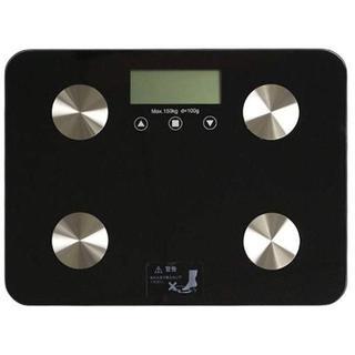 超軽量 ヘルスメーターブラック(体重計)