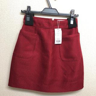 ダズリン(dazzlin)の新品タグ付き ダズリン パイピング台形ミニスカート 赤(ミニスカート)