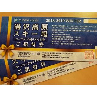 湯沢高原スキー場 リフト1日券引換券2枚組(ウィンタースポーツ)