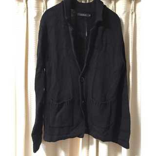 【美品】roshell M ニットジャケット 黒  アウター(ニット/セーター)