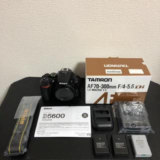 ニコン(Nikon)の[美品] Nikon D5600 レンズセット TAMRON 70-300m (デジタル一眼)