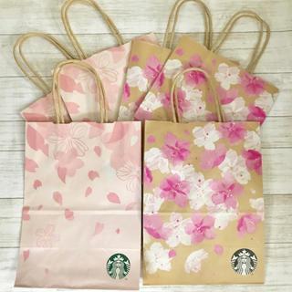 スターバックスコーヒー(Starbucks Coffee)の6枚セット スターバックス さくらデザイン 紙袋(ショップ袋)