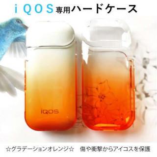 ☆大人気☆ iQOS アイコスケース クリアケース グラデーション オレンジ(タバコグッズ)