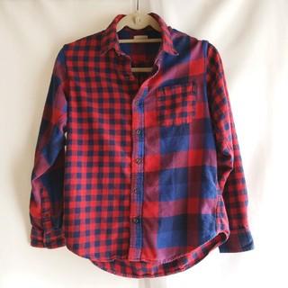 ジーユー(GU)の胸ポケット付き 切り替えチェックネルシャツ(シャツ/ブラウス(長袖/七分))