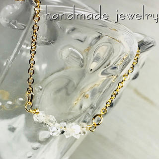 14kgfハーキマーダイヤモンドネックレス(ネックレス)