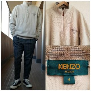 ケンゾー(KENZO)の日本製 KENZO GOLF ハーフZIP コットンニット プルオーバー(ニット/セーター)