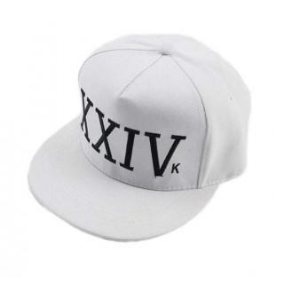XXIV BRUNO MARS 刺繍 キャップ ホワイト(キャップ)