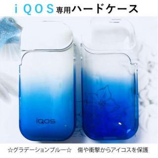 ☆大人気☆ iQOS アイコスケース クリアケース グラデーション ブルー(タバコグッズ)