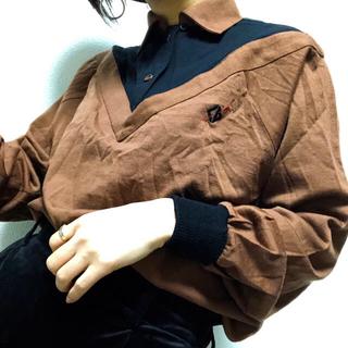 クリスチャンディオール(Christian Dior)の[古着]Christian Dior オフショル風ポロシャツ ゴルフシャツ(ポロシャツ)