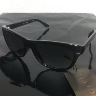 グッチ(Gucci)のグッチ サングラス ウェリントン ブラック GG3709 メンズ メガネ(サングラス/メガネ)