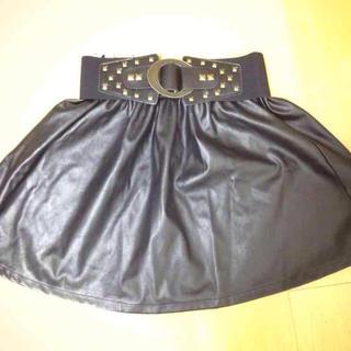 アベイル(Avail)のアベイル ベルト付きレザースカート(ミニスカート)
