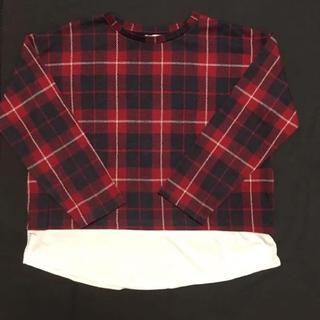 ザラ(ZARA)のZARA ドッキングロンt   オーバーサイズ レイヤード(Tシャツ/カットソー(七分/長袖))
