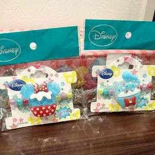 ディズニー(Disney)の新品、未開封☆ミニー&ドナルド光るビーズブレスレット♪(その他)