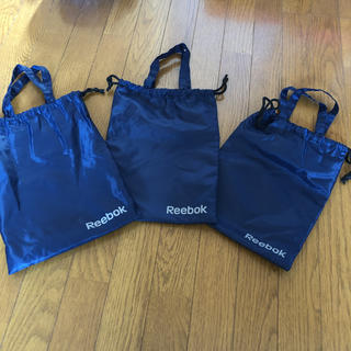 リーボック(Reebok)の新品 未使用 巾着 袋 ショッパー リーボック セット 手提げ ジム ポーチ(その他)