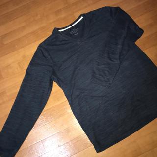 ザラ(ZARA)のTシャツ  シャツ  7分袖 ネイビー 紺 レディース メンズ(Tシャツ/カットソー(七分/長袖))