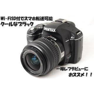 ♡ブラック&ブラック♡スマホ転送可能♡ペンタックス K-x レンズキット(デジタル一眼)