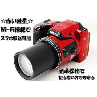 ☆赤い彗星☆Wi-Fi機能搭載でスマホ転送可能☆クールピクスL840☆(コンパクトデジタルカメラ)