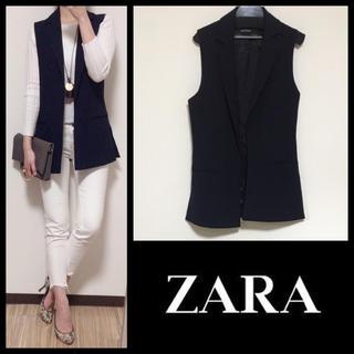 ザラ(ZARA)の*ZARA BASIC*美品/ノースリーブジャケット(ベスト/ジレ)