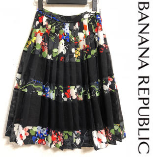 ザラ(ZARA)の今日だけ値下げ!未使用品 バナナリパブリック 花柄スカート 00サイズ(ひざ丈スカート)