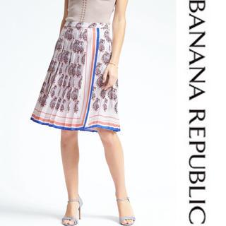 ザラ(ZARA)の今日だけ値下げ!未使用品 バナナリパブリック スカーフ柄スカート 00サイズ(ひざ丈スカート)