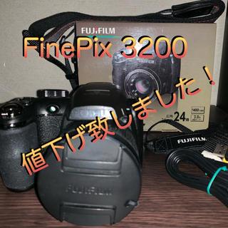 フジフイルム(富士フイルム)のFUJIFILM デジタルカメラ FinePix S3200 ブラック(コンパクトデジタルカメラ)