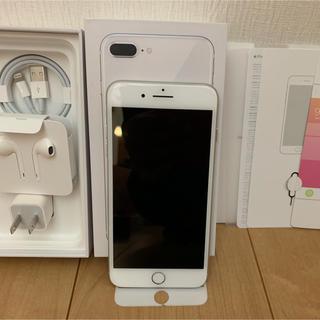 アイフォーン(iPhone)のiPhone 8 Plus 256GB 白 simフリー2か月無傷100%箱全有(スマートフォン本体)