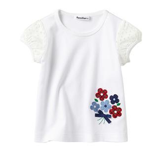 familiar - 美品☆2018SS 現行品 ファミリア Tシャツ80サイズ