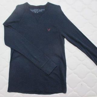 American Eagle - アメリカンイーグル  表記サイズM ネイビー系ロングシャツ