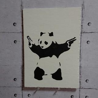 バンクシーウッドボード パンダ(ウェルカムボード)