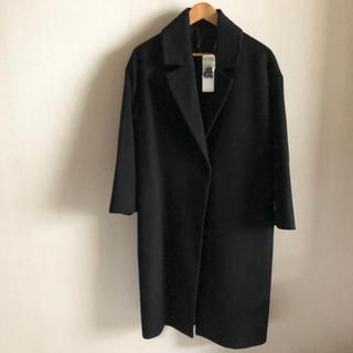 ジーユー(GU)のチェスターコート ロングコート ベルテッドコート ジーユー ブラック 黒 コート(チェスターコート)