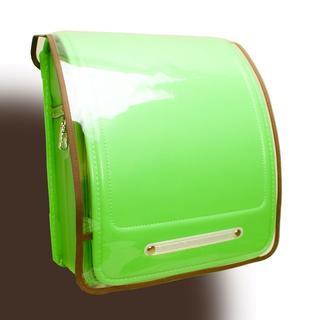 ランドセルカバー 透明 Clear × Solid ブラウン(ランドセル)