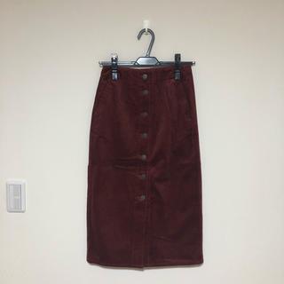 ジーユー(GU)のコーデュロイタイトスカート GU(ロングスカート)