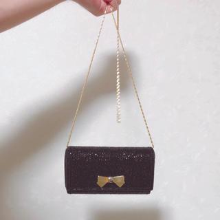 シマムラ(しまむら)のチェーンバッグ スパンコール付き キラキラ リボン(ショルダーバッグ)