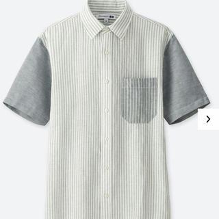 ユニクロ(UNIQLO)のリネンコットンシャツ ユニクロ×JW ANDERSON アンダーソン グレー (シャツ)