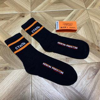 HERON PRESTON ヘロンプレストン ソックス 靴下 BK(ソックス)