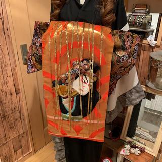 浮世絵 押し絵  二部式 花魁帯 ハンドメイド  (帯)