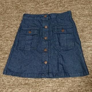 ジーユー(GU)のデニムスカート Mサイズ(ひざ丈スカート)