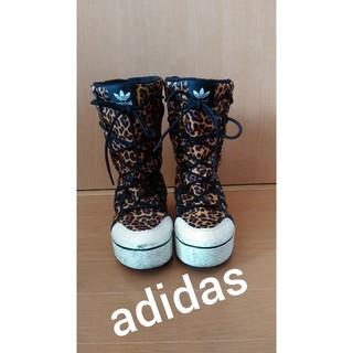 アディダス(adidas)のAdidas★レオパード柄が個性的なブーツ22.5㎝(ブーツ)