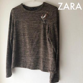 ザラ(ZARA)のSALE ☆ZARA  ティーシャツ  ブラウン(シャツ/ブラウス(長袖/七分))