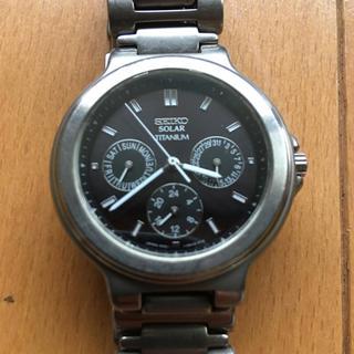 セイコー(SEIKO)のSEIKO 5K2J-0A40 ソーラーチタニウム 時計(腕時計(アナログ))
