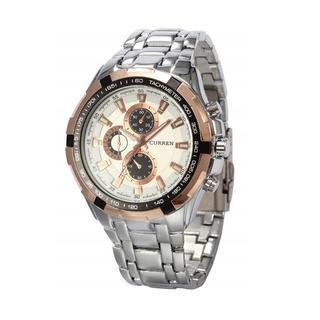 売れてます☆ウォッチ ステンレススチール クォーツ 腕時計(シルバーホワイト)(腕時計(アナログ))