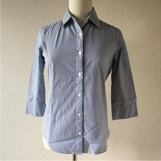 ジーユー(GU)のセーターと合わせても可愛い♡♡ GU七分袖ストライプシャツ(シャツ/ブラウス(長袖/七分))
