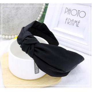カチューシャ レディース 黒 シンプル 幅広 ワイド 太め ブラック カジュアル(カチューシャ)