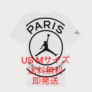 NIKE - US Mサイズ NIKE JORDAN×PSG ビッグロゴ Tシャツ ホワイト