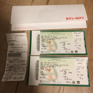 マルーン5  東京ドームツアー S席2枚連番 限定出品(海外アーティスト)
